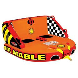 Inflatable Big Mable Sitting Double Rider Towable Boat And Lake Tube Heavy-duty