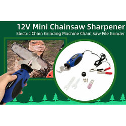 12v Handheld Chainsaw Chain Sharpener Kit Wrench + Multi-wrench Collet Cover