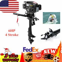 Hangkai 4-stroke 6hp Outboard Motor Boat Machine Engine Air Cooling W/3 Blades