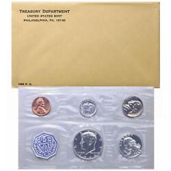 1964 Proof Set Original Envelope 90 Silver Accented Hair Kennedy Us Mint