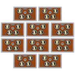 2011 S Presidential Dollar Proof Set 10 Pack 40 Coins No Boxes Or Coa's Us Coins