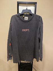 Gallery Dept Vintage Wash/faded Painged Long Sleeve Tee Size Large