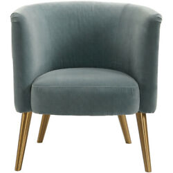 Uttermost 23480 Haider Steel Gray And Brushed Brass Accent Chair