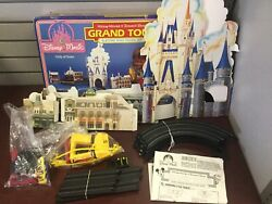 Vintage Electric Road Racing Set Disney Mickey Mouse And Donald Duck Grand Tour