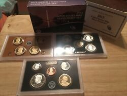 2013-s U.s. Silver 14 Coin Proof Set. Original As Minted By U.s. Mint