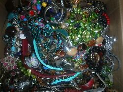 Craft Jewelry 22 Lbs. Lot C-1 Grab Bag Vintage And Cont. Various Craft Jewelry