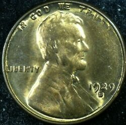 1929-s/s Lincoln Wheat Cent - Rpm Fs-501 013.65 - Red Gem Bu - Free Shipping