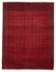 Vintage Hand-knotted Carpet 10'0 X 12'11 Traditional Oriental Wool Area Rug