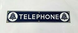 📞 Antique Vintage 1920and039s Bell System Telephone Porcelain Sign Very Nice 📞