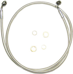 Magnum E-z Align Braided Single Disc Non-abs Front Brake Lines 36854sw 54