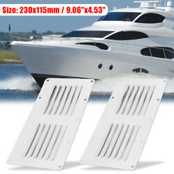 2pcs 230x115mm Rectangle Boat Louvered Ventilation Vent 316 Stainless Steel