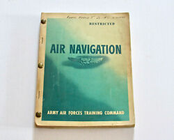 Wwii Ww2 Us Army Air Force Air Navigation Training Command Book Military Restric