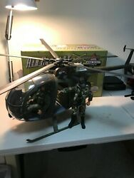 Gi Joe 12 21st Century Oh6 Helicopter 1/6 Scale With 3 Action Figures