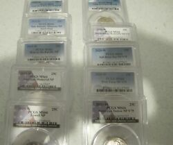 2019 And 2020 W Uncirculated Atb Quarters All 10 Pcgs Ms66