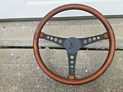 Vintage 1960and039s The 500 Dark Gold Metal Flake Finish Steering Wheel Superior