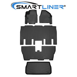 Smartliner Floor Mats 3 Rows And Cargo Liner Behind Third Row For 17-21 Pacifica