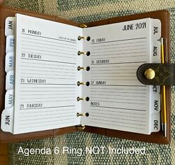 Fits Louis Vuitton Pm Small Agenda 2021 Tabbed Weekly Tab Calendar+filler Paper
