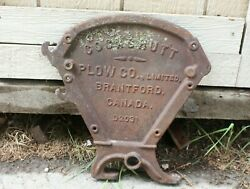 Vintage Cast Iron Cockshutt Plow Co. Seed Drill End Farm Implement Ontario