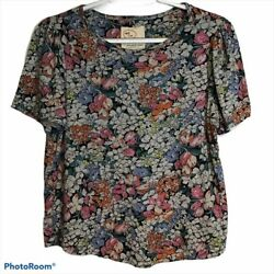 Conversations By Anthro Floral Short Sleeve Tee Sp