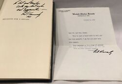 Decisions For A Decade Signed W/ Letter On Senate Letterhead From Ted Kennedy