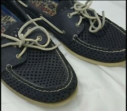 Mens Blue Sperrys Shoes Top Sider Blue Loafers Size 13.5