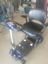 Drive Medical Zoome Auto-flex Power Folding Scooter Blue Used