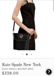 Kate Spade suzy small leather bucket bag Black $109.99