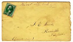 Forest City Ne Sarpy 1859/1886 R6 To Rushville Oh 1884 W/ Content