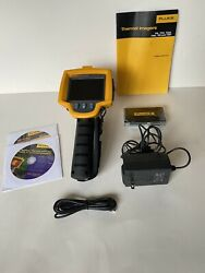 Fluke Ti10 Thermal Imaging Infrared Camera Charger And Hard/soft Case Card Reader