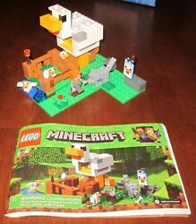 Lego Minecraft THE CHICKEN COOP 21140 Complete with Minifigures amp; Manual NO Box