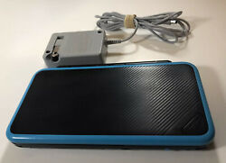 New Nintendo 2ds Xl Black/turquoise Handheld System W/ Charger/stylus -fast Ship