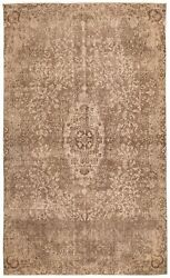 Vintage Hand-knotted Carpet 5and03910 X 9and0398 Traditional Oriental Wool Area Rug