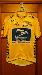 Lance Armstrong Nike Usps 2004 Tour De France Yellow Jersey Never Worn.