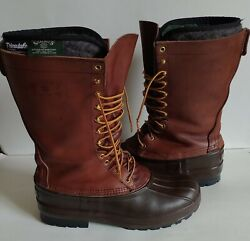 Schnees Hunting Boots 13 Tall Leather Mens Size 12 Bozeman Montana