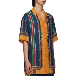 Short Sleeve Silk Jacquard Shirt In 48 And 52 Sizes