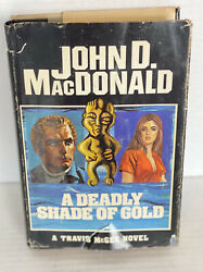 A Deadly Shade Of Gold, By Macdonald, Travis Mcgee Novel, Hardcover, 1974 1st Ed