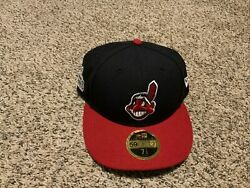 Cleveland Indians New Era 59fifty Fitted 7 1/2 2016 World Series Hat Low Profile