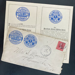 1897 Marblehead Wi Usa Advertising Cover To Plymouth Nast Brothers White Lime