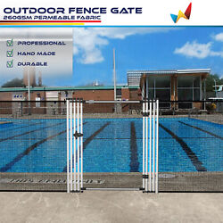 6ft Black Removable Pool Privacy Fence Inground Pools Safety Security With Poles