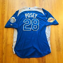 Buster Posey Authentic 2012 Mlb All Star Game Jersey Men's Size Xl