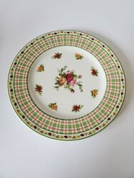 Royal Albert Old Country Roses Casual Plaid Salad Plate S