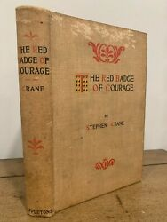 Rare True 1st/1st The Red Badge Of Courage 1895 Stephen Crane First Edition