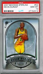 2007 Bowman Sterling Kd Kevin Durant Psa 10 Perfect Rookie Rc