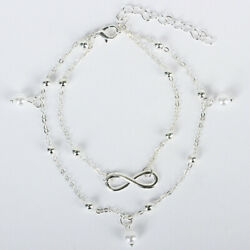 Ankle Bracelet 925 Sterling Silver Anklet Foot Chain Beach for Many Occasions $6.98