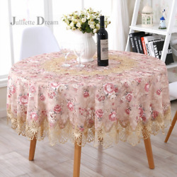 Luxury Round Tablecloth Home Decorative Table Cloth European Floral Table Cover