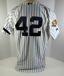 2001 New York Yankees Mariano Rivera 42 Authentic White Jersey 100 P Russell 48