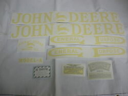 John Deere A Unstyled Tractor Decal Set Vinyl Cut - New Free Shipping