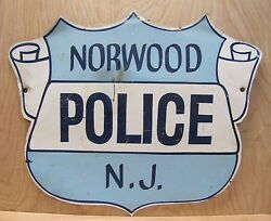 Norwood Police Nj Old Retired Sign Badge Design New Jersey Pd Advertising