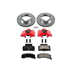 Kc1992 Powerstop 2-wheel Set Brake Disc And Caliper Kits Front For Chevy Dodge