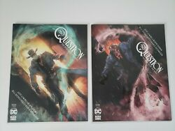The Question The Deaths Of Vic Sage 2 And 4 Lot. Dc Black Label Lemire. Vf/nm